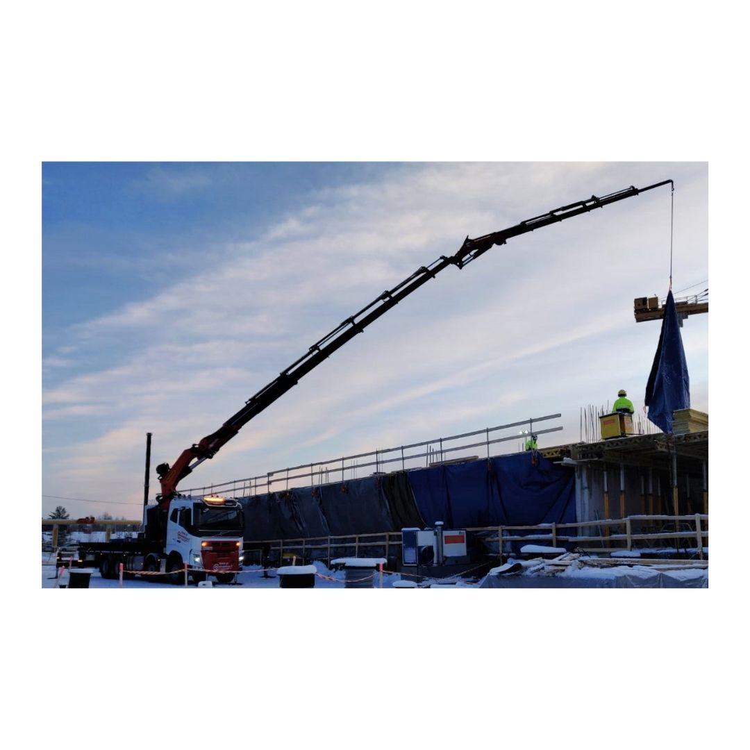 Loader crane services Rovaniemi.